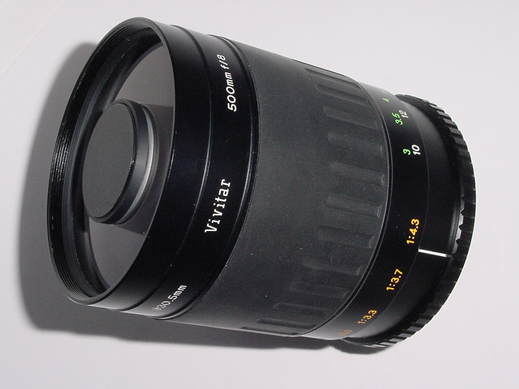 T-MOUNT Vivitar 500mm F/8.0 MIRROR MANUAL FOCUS LENS
