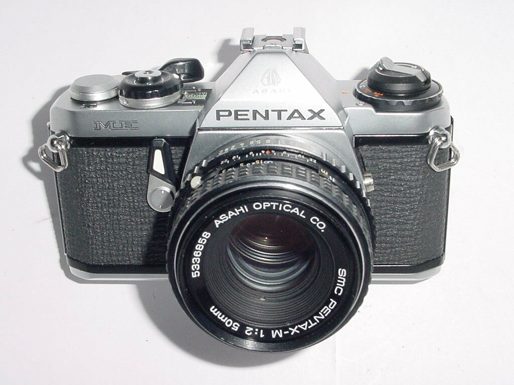 Pentax ME Film Manual SLR Camera w/ Pentax-M 50mm f/2 Lens