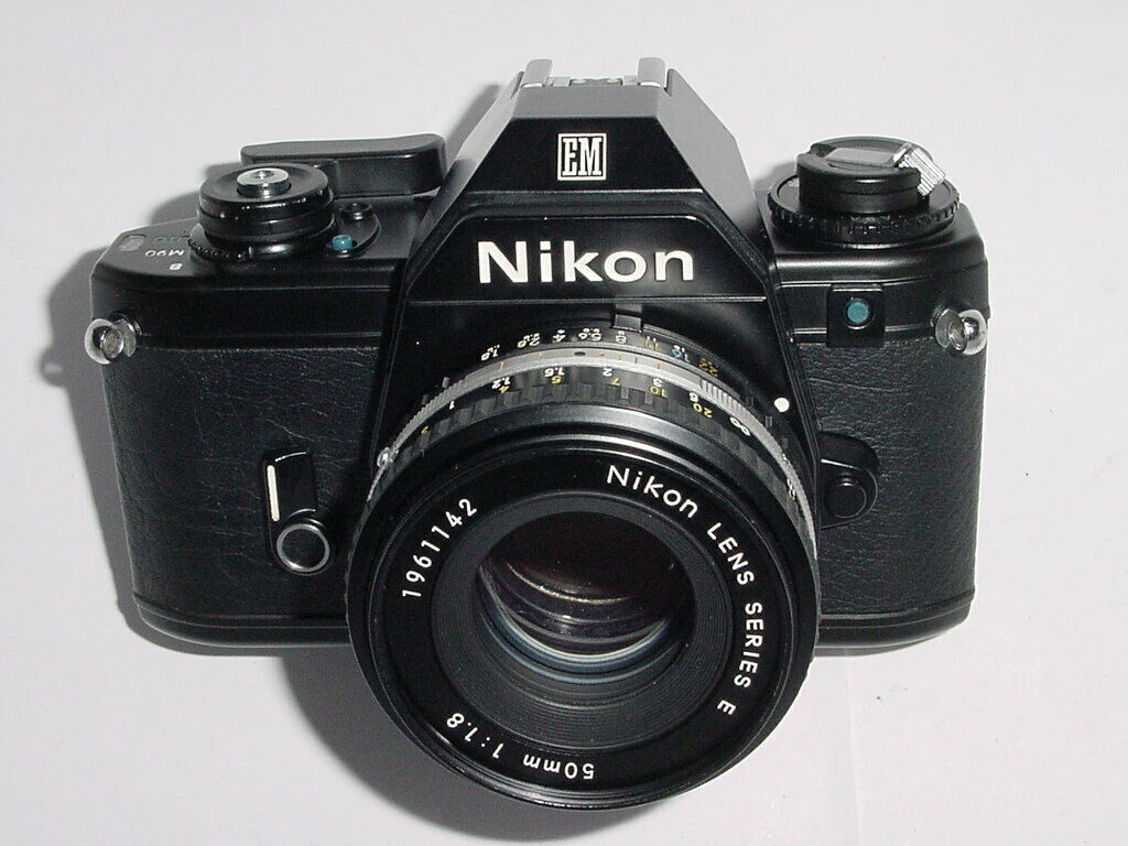 Nikon EM Film SLR Manual Camera w/ Nikon 50mm F/1.8 Lens