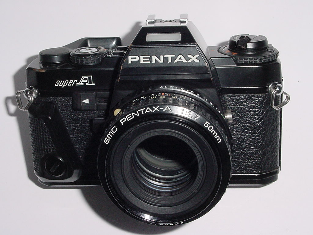 PENTAX SUPER A 35mm Film SLR Manual Camera w/ Pentax-A 50mm F/1.7 Lens