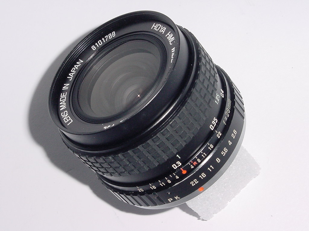 Pentax PK Fit HOYA 28mm F/2.8 HMC WIDE ANGLE Manual Focus Lens