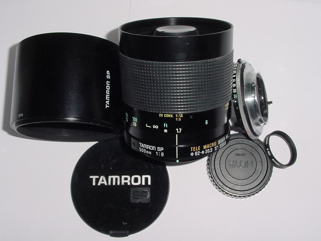 TAMRON 500mm F/8 SP TELE MACRO BBAR MC 55BB MIRROR LENS + Minolta MD AD