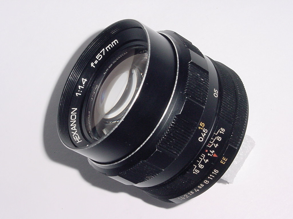KONICA 57mm F/1.4 HEXANON Standard Manual Focus Lens + Nikon Mount