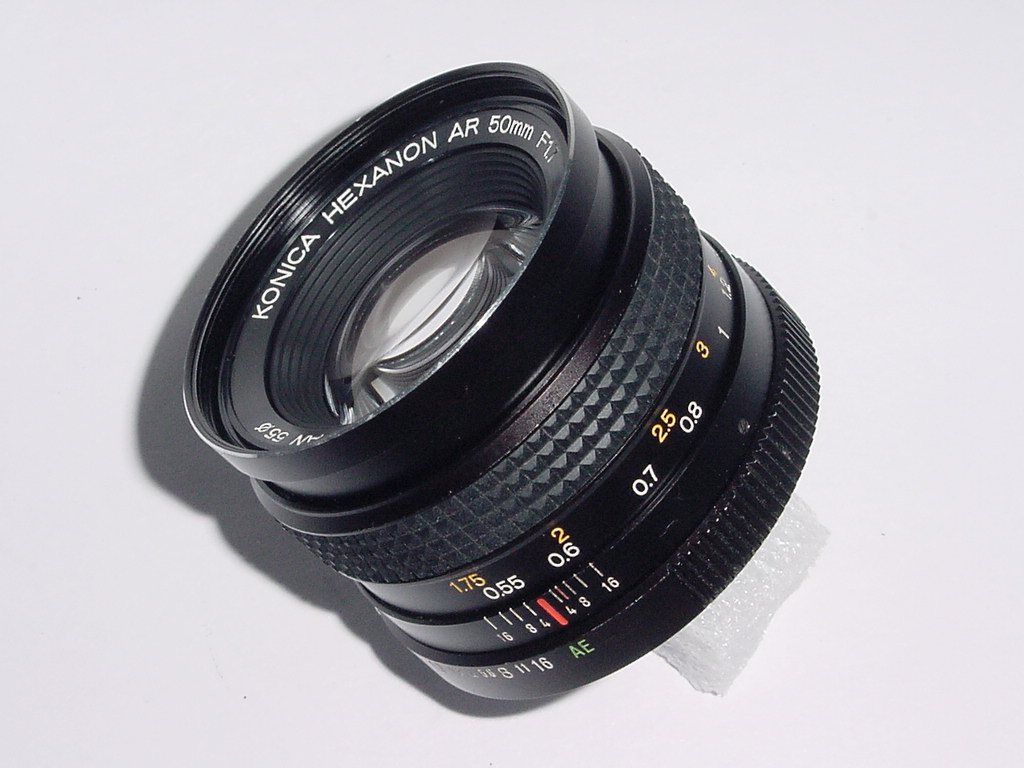 KONICA 50mm F/1.7 HEXANON Standard Manual Focus Lens