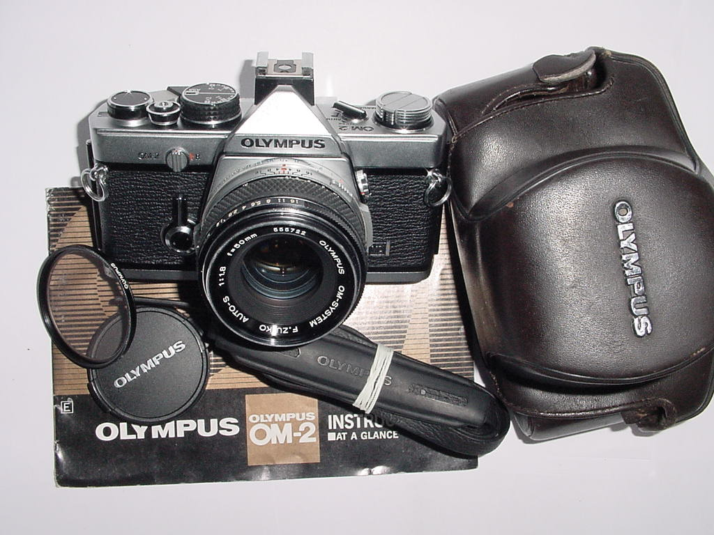 Olympus OM-2 MD 35mm Film SLR Manual Camera with Olympus 50mm F/1.8 Zuiko Lens