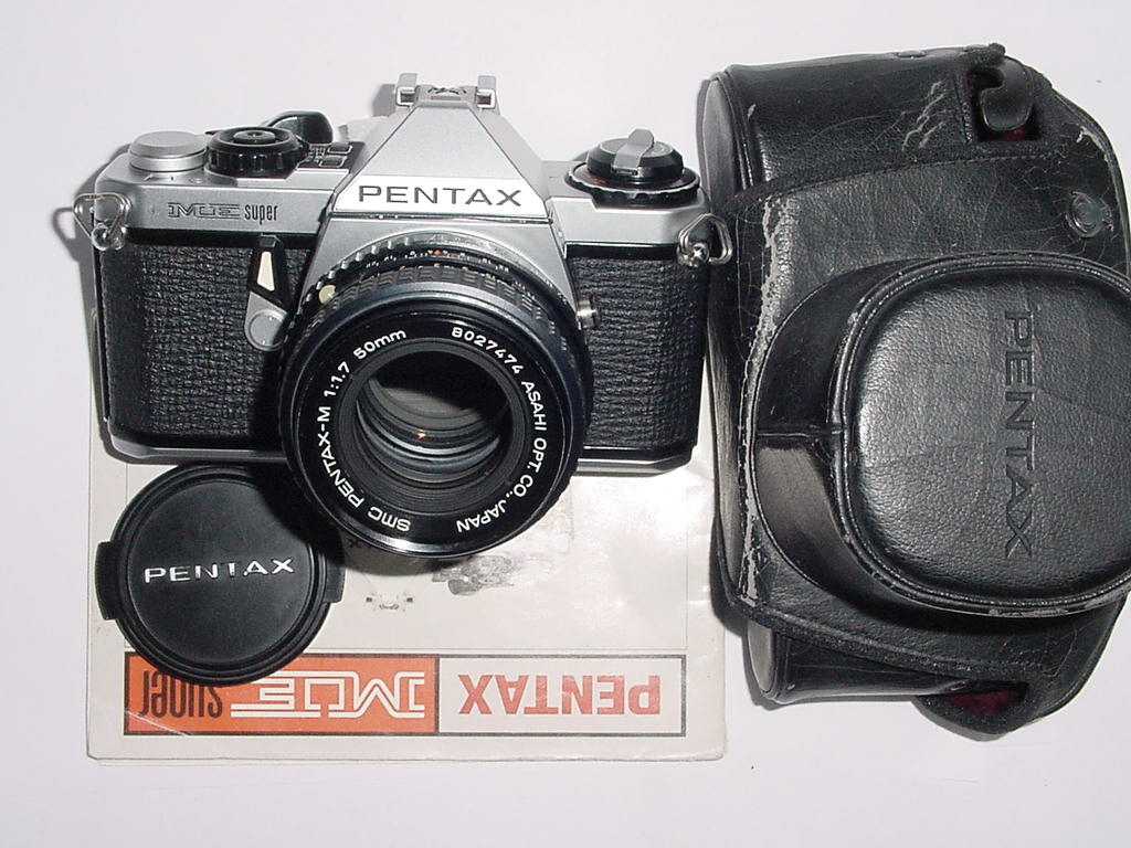 Pentax ME Super 35mm Film manual SLR Camera with Pentax M 50mm f/1.7 smc Lens