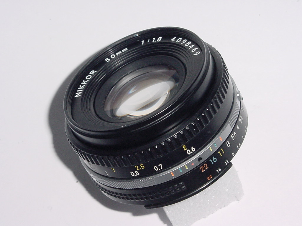 Nikon 50mm F/1.8 NIKKOR Standard Manual Focus Pancake Lens