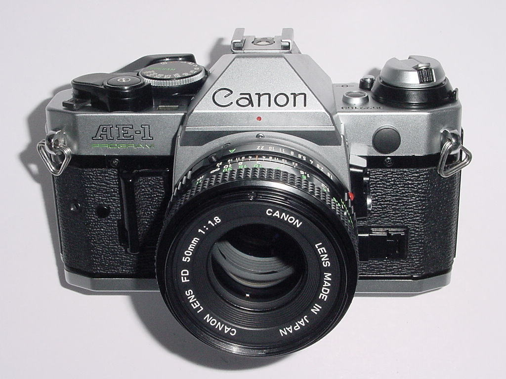 Canon AE-1 Program 35mm SLR Film MANUAL Camera + Canon 50mm F/1.8 FD Lens