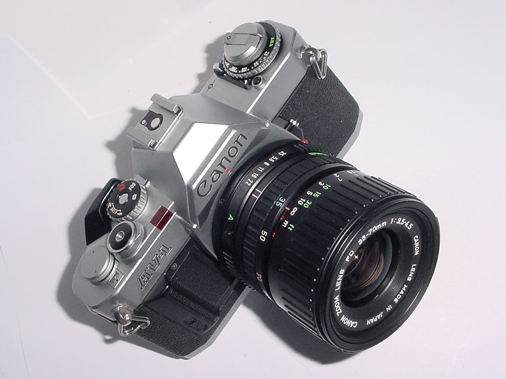 Canon AV-1 35mm SLR Film Camera with Canon 35-70mm F/3.5-4.5 FD Zoom Lens