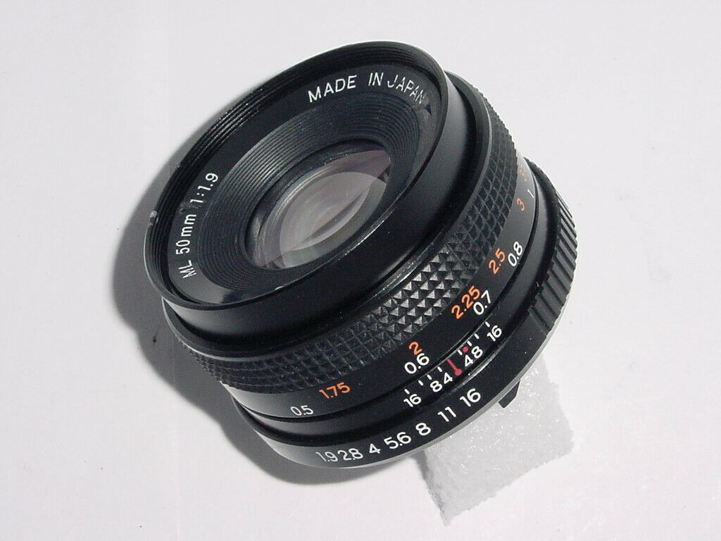 Yashica 50mm F/1.9 ML Standard Manual Focus Lens Y/C Mount