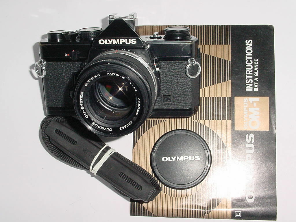 Olympus OM-1 MD 35mm Film SLR Manual Camera with Olympus 50mm F/1.4 G.Zuiko Lens