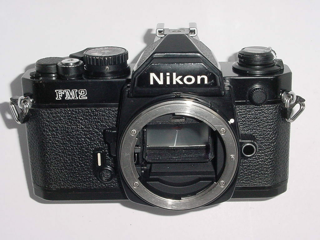 Nikon FM2 35mm SLR Film Manual Camera w/ Titanium Shutter Body - Black