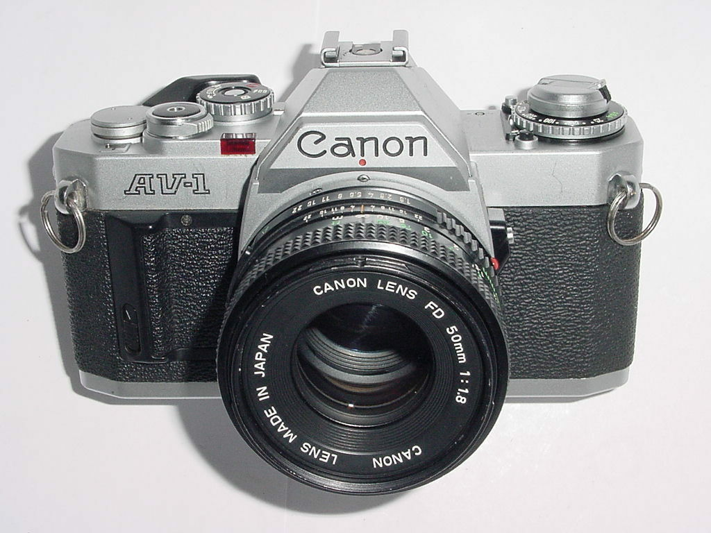Canon AV-1 35mm SLR Film Camera with Canon 50mm F/1.8 FD Lens