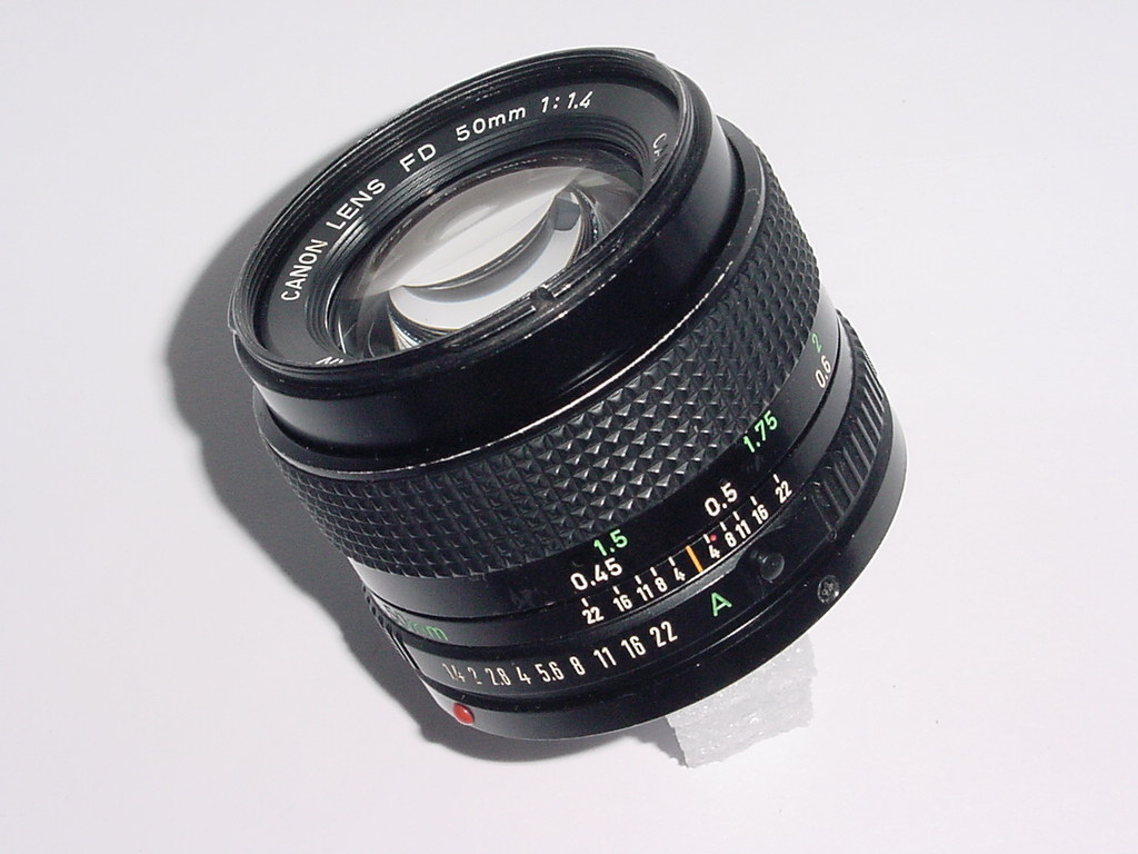 Canon 50mm F/1.4 FD Manual Focus Standard Lens
