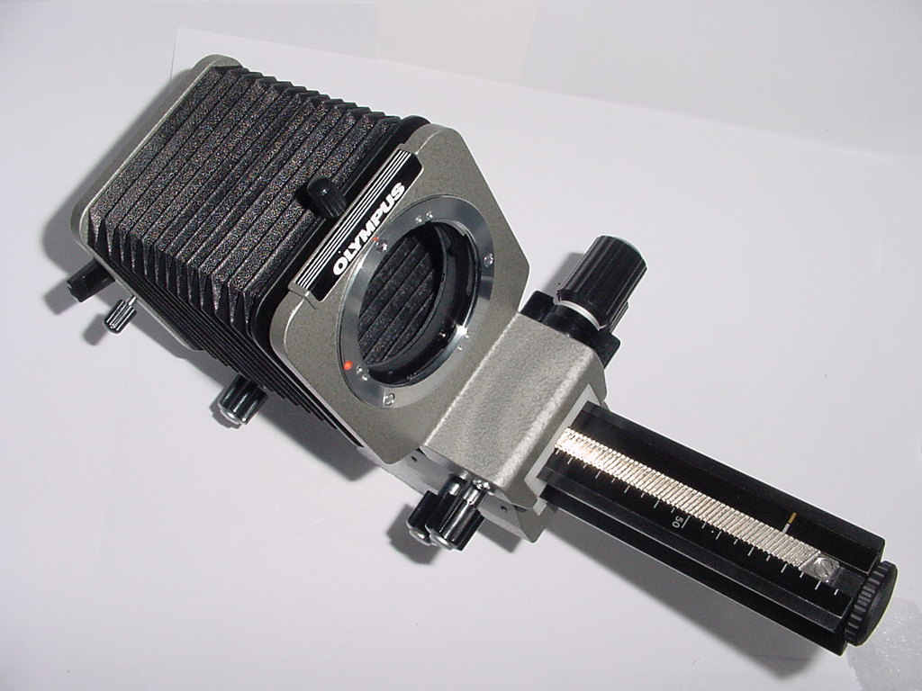 OLYMPUS AUTO BELLOWS OM SYSTEM + Double Cable Release