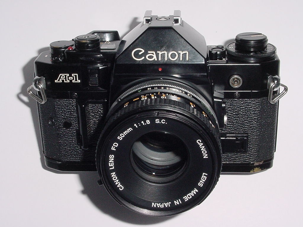 Canon A-1 35mm SLR Film Manual Camera with Canon 50mm F/1.8 FD S.C. Lens