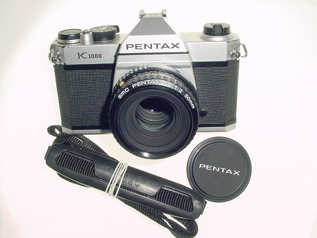 Pentax K1000 35mm Film SLR Manual Camera with Pentax-A 50mm F/2
